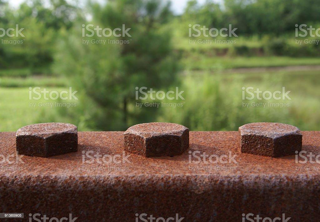 Rivets stock photo