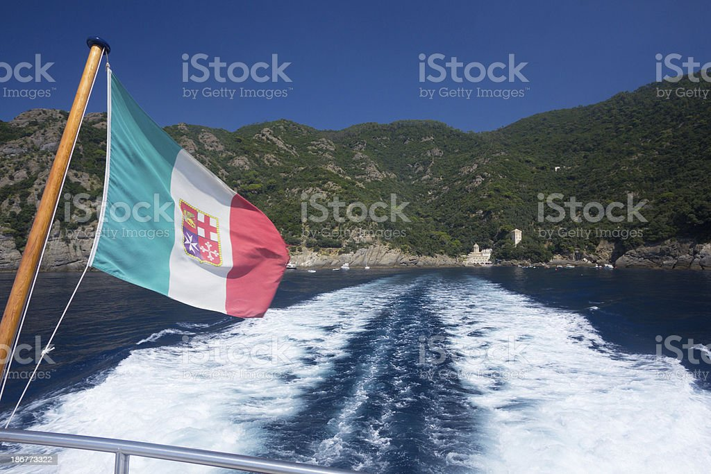 Riviera di Levante in Liguria, Italy royalty-free stock photo