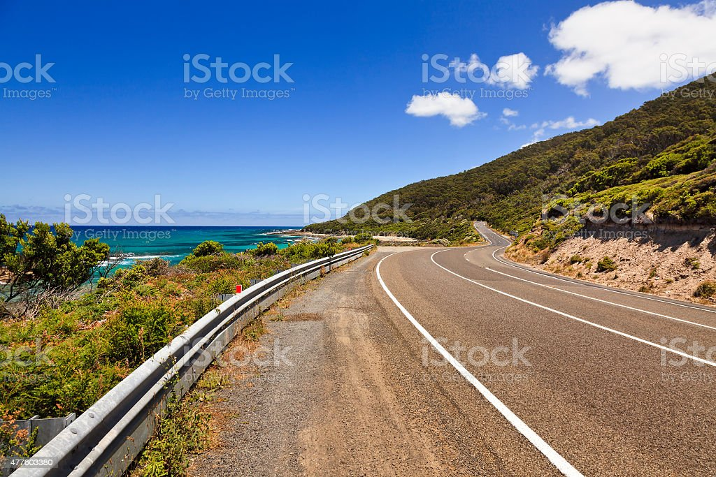GOR Riviera Empty road stock photo