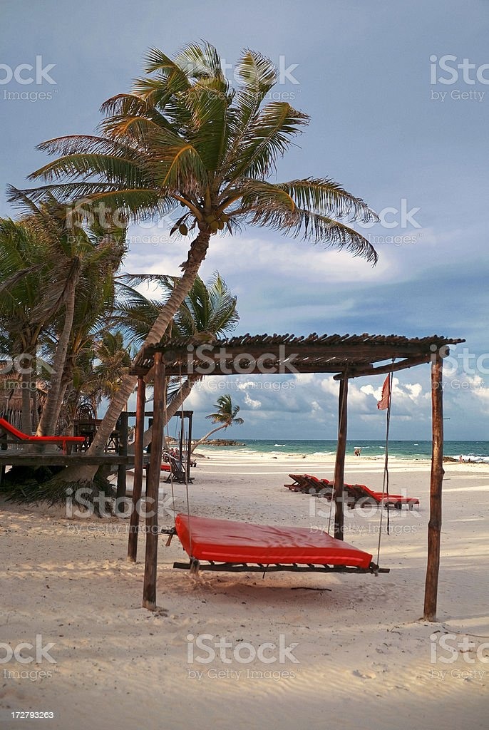riviera maya beach royalty-free stock photo