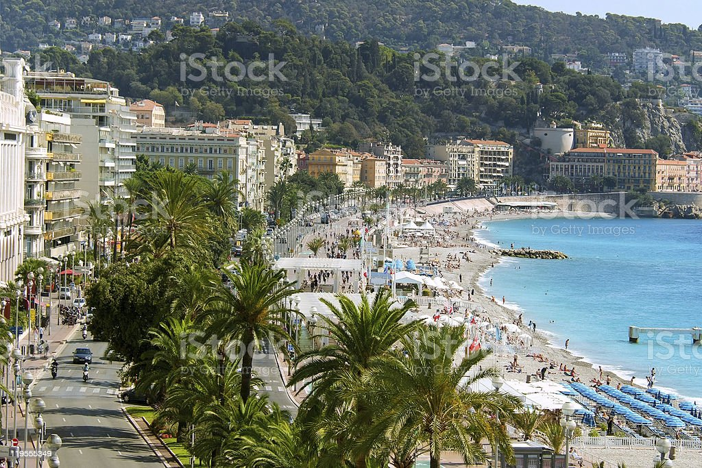 riviera waterfront in nice france royalty-free stock photo