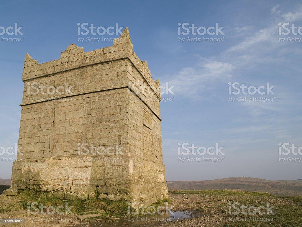 Rivington Pike tower near Bolton stock photo