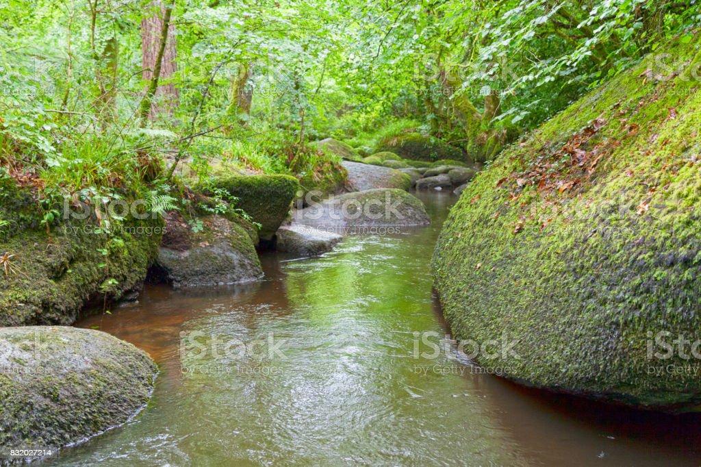 Rivière d'Argent in Huelgoat stock photo