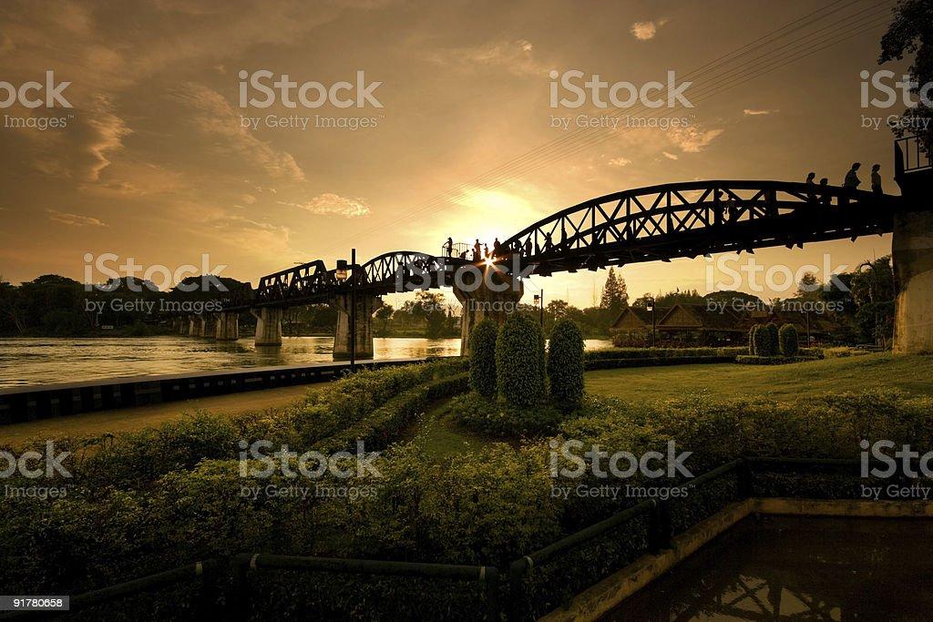 Riwer Kwai Bridge royalty-free stock photo