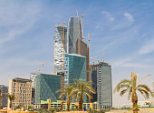 Riyadh financial district construction site
