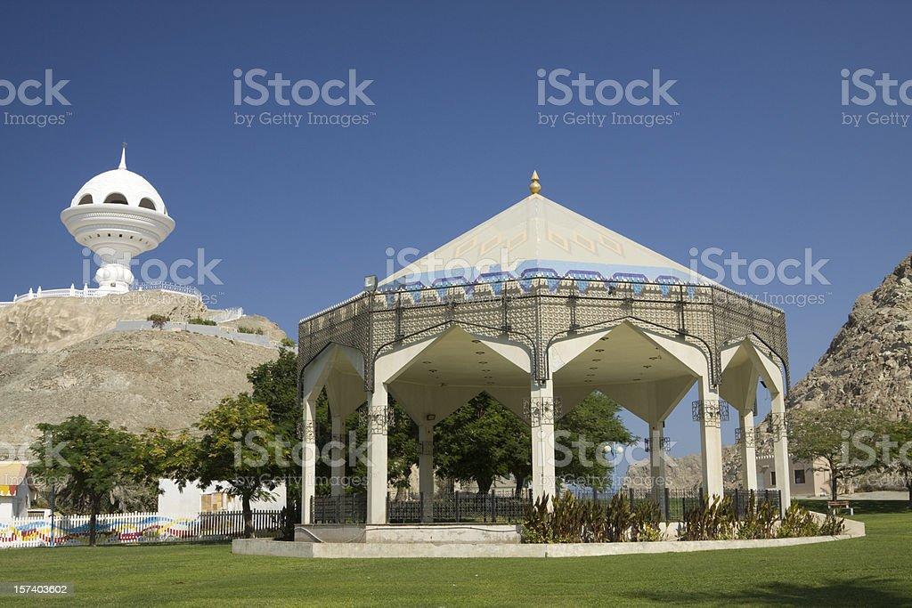 Riyam Park in Muscat Oman royalty-free stock photo
