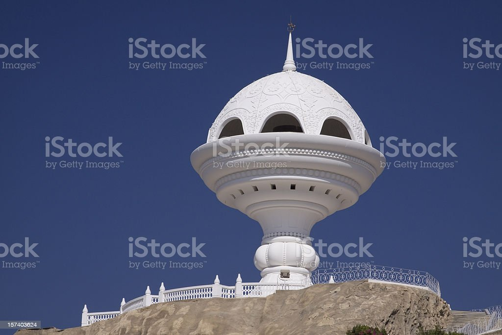 Riyam Park monument in Muscat Oman stock photo