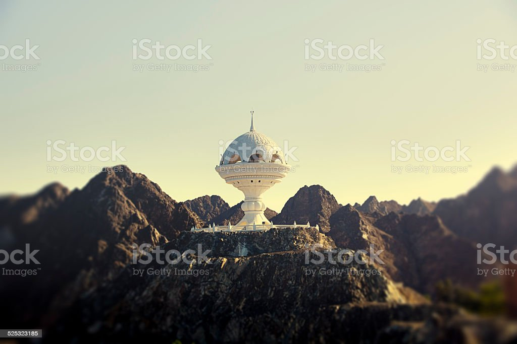 riyam park monument in muscat, oman stock photo