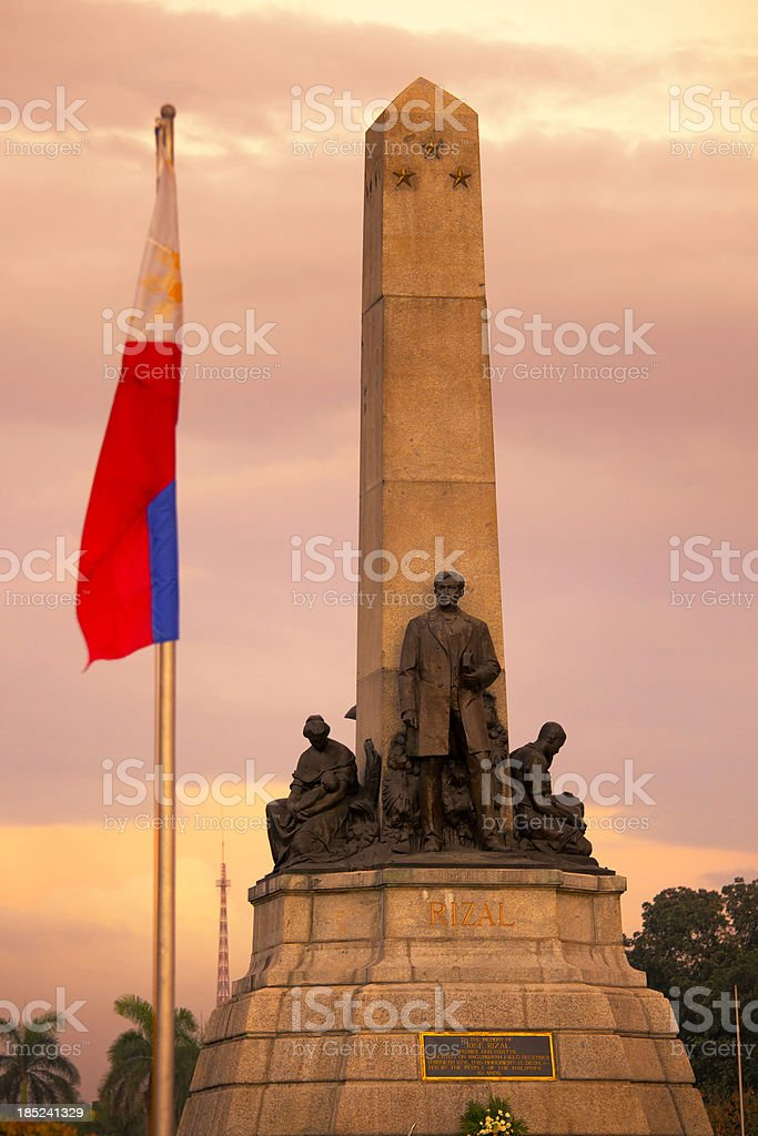 Rizal monument stock photo