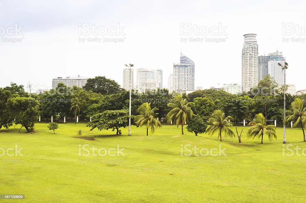 Rizal Park, City of Manila, Philippines royalty-free stock photo