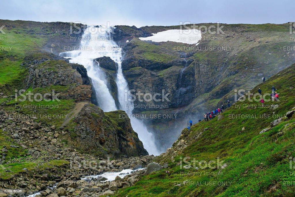 Rjukandi waterfall, East Iceland stock photo