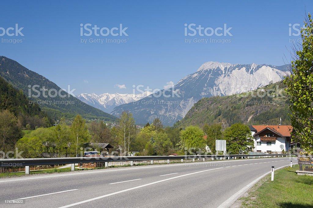 Roa To Ötz, Austria stock photo