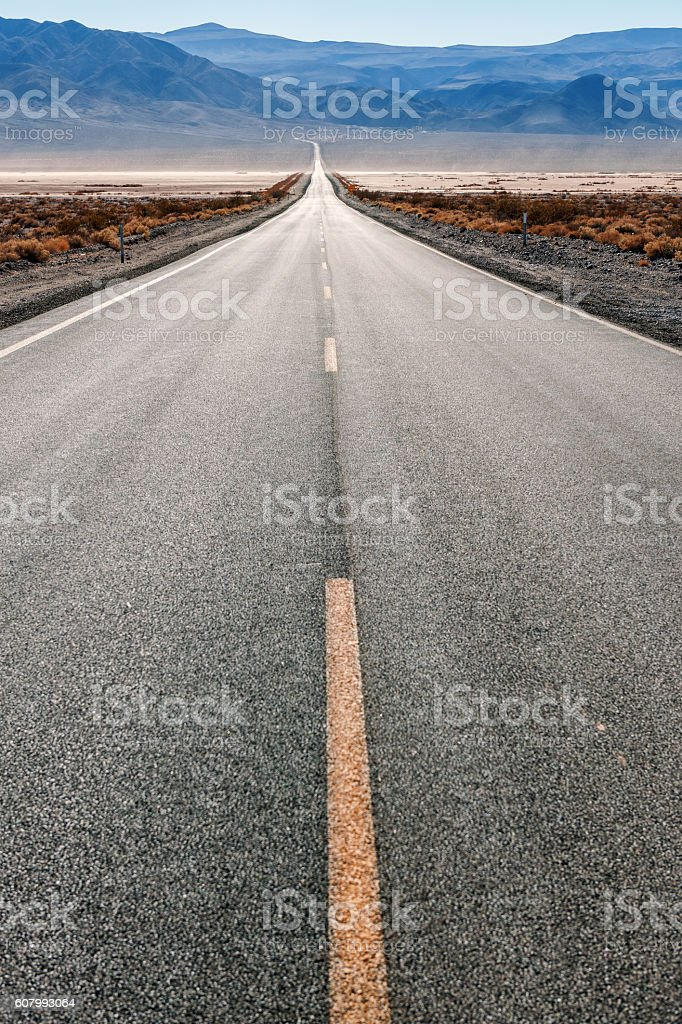 Road 190 in Panamint Valley,Death Valley , California, USA stock photo