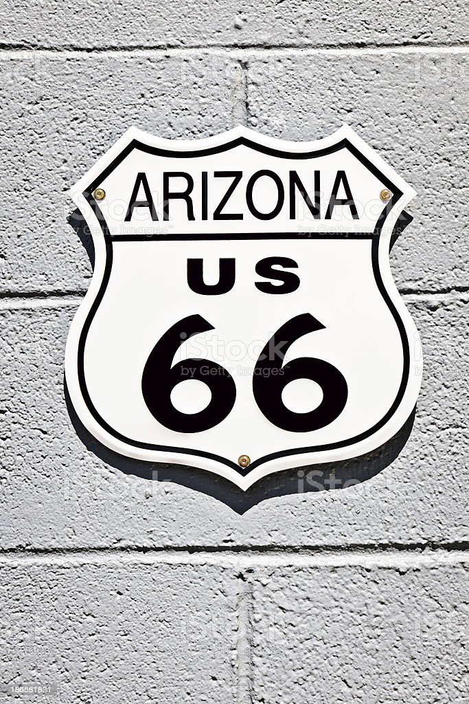 Road 66 Sign Arizona in Seligman, USA royalty-free stock photo
