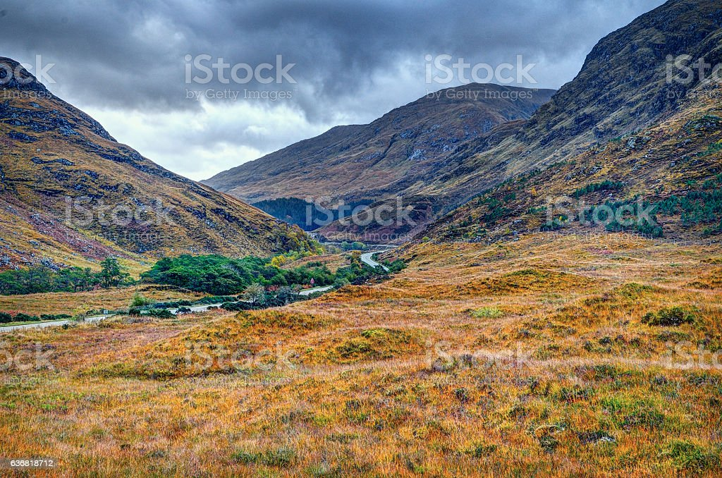 Road A87 at Highland stock photo