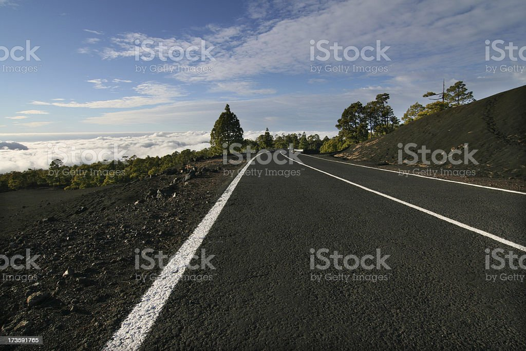 Road above the Clouds royalty-free stock photo