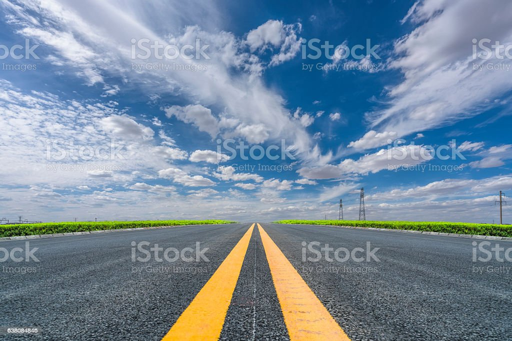 road ahead stock photo