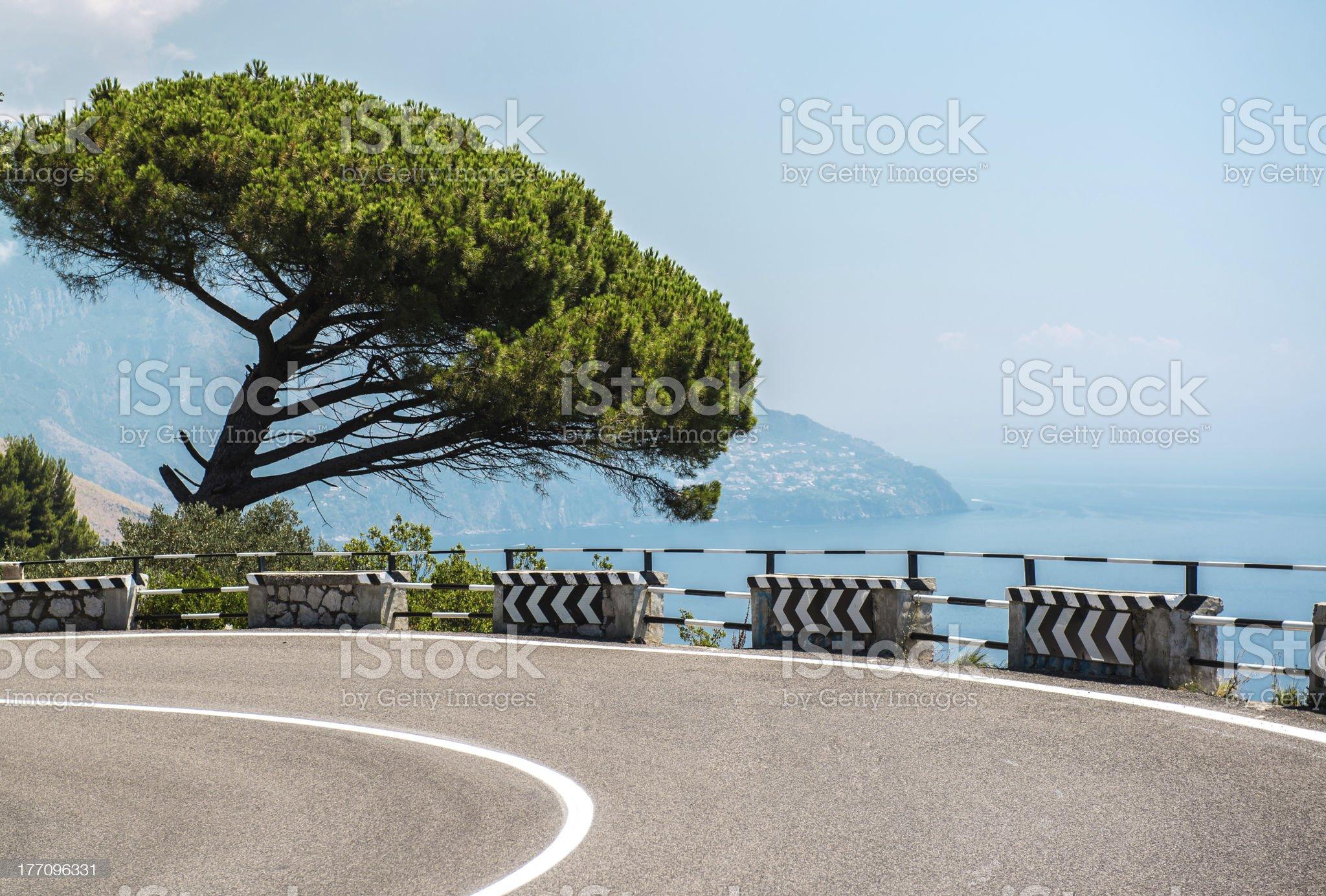 Road along the Amalfi Coast royalty-free stock photo
