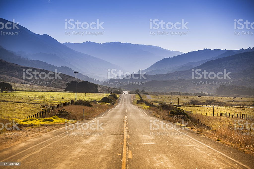 Road along the Big Sur, Coastline and sea stock photo