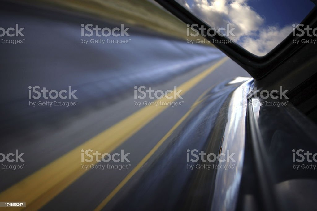 Road and Car royalty-free stock photo