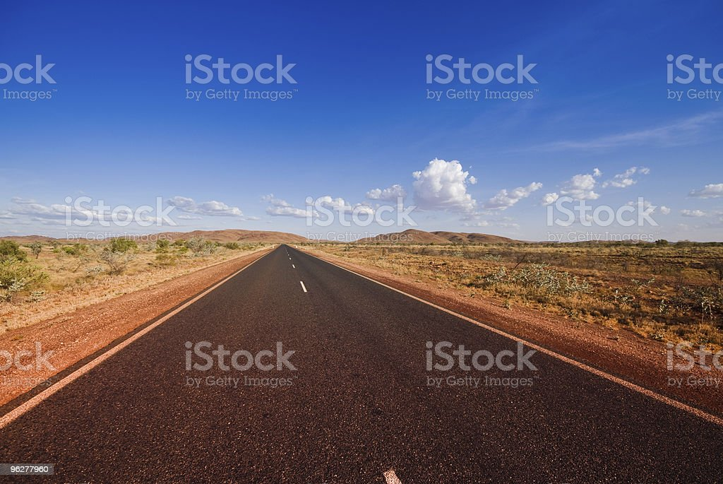 Road and Clouds in Western Australia royalty-free stock photo