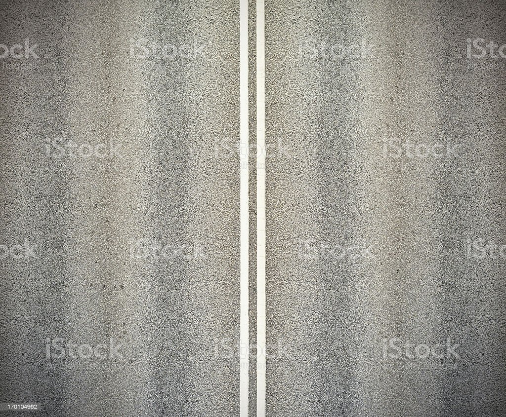 Road, and double white lines stock photo