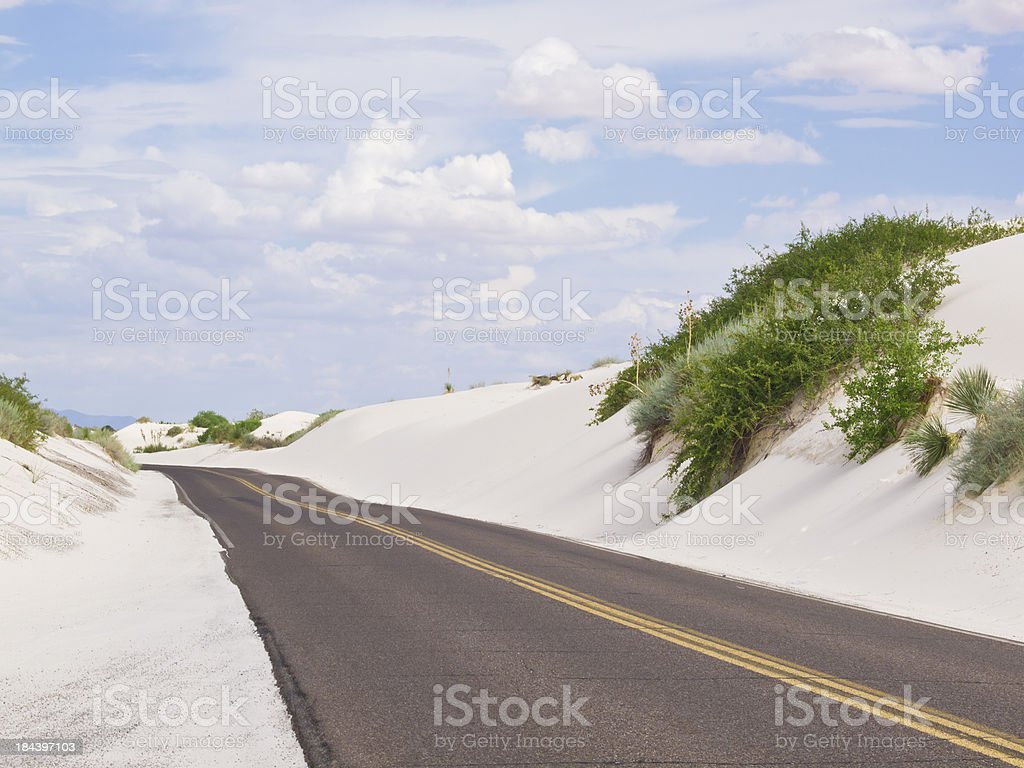 road and  dunes stock photo