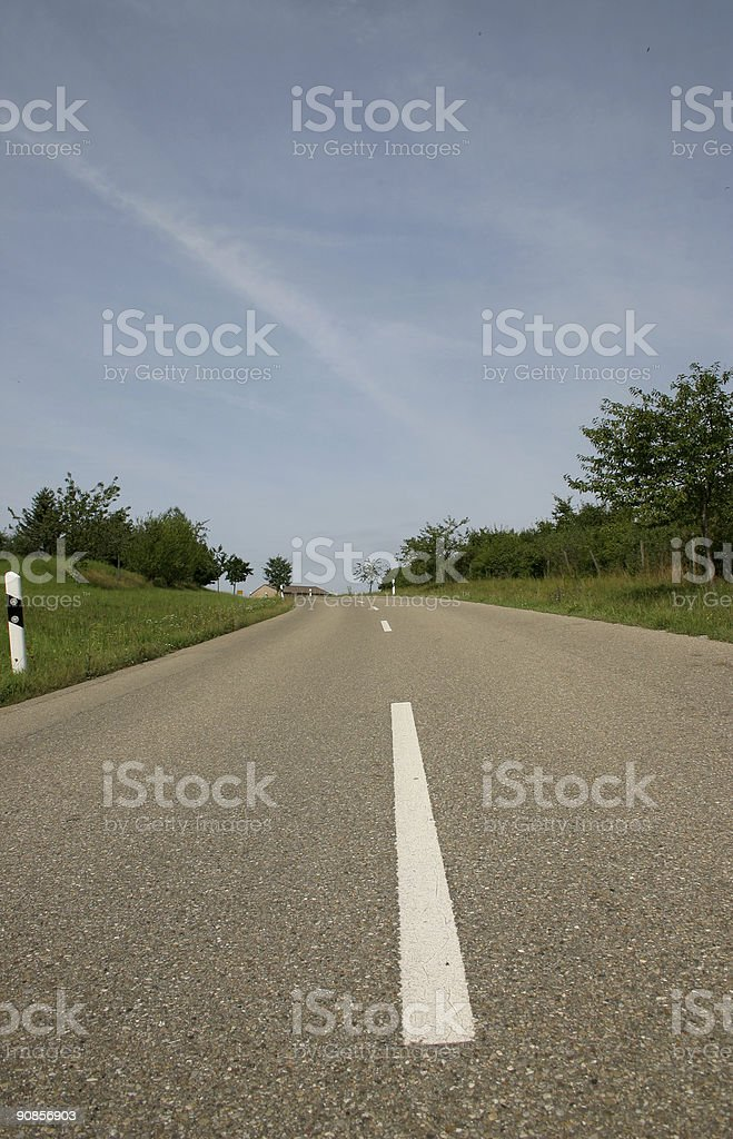 Road and nature royalty-free stock photo