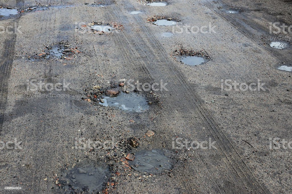 road and puddle royalty-free stock photo