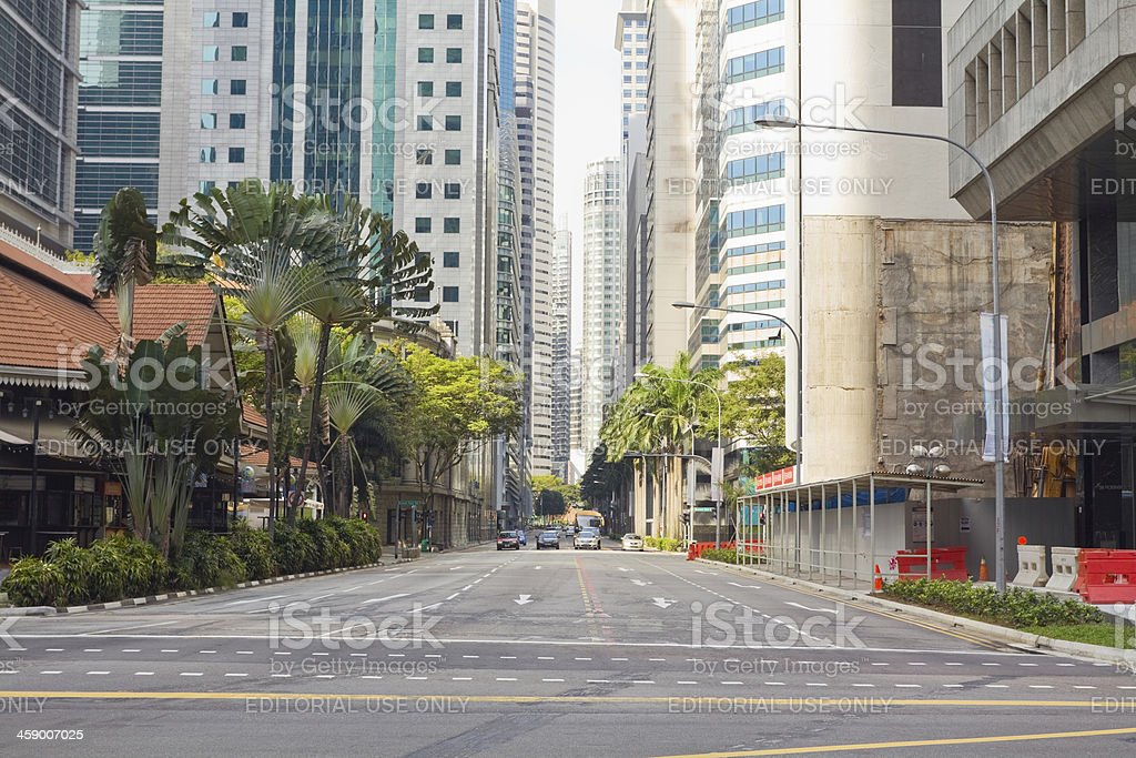 Road and skyline royalty-free stock photo