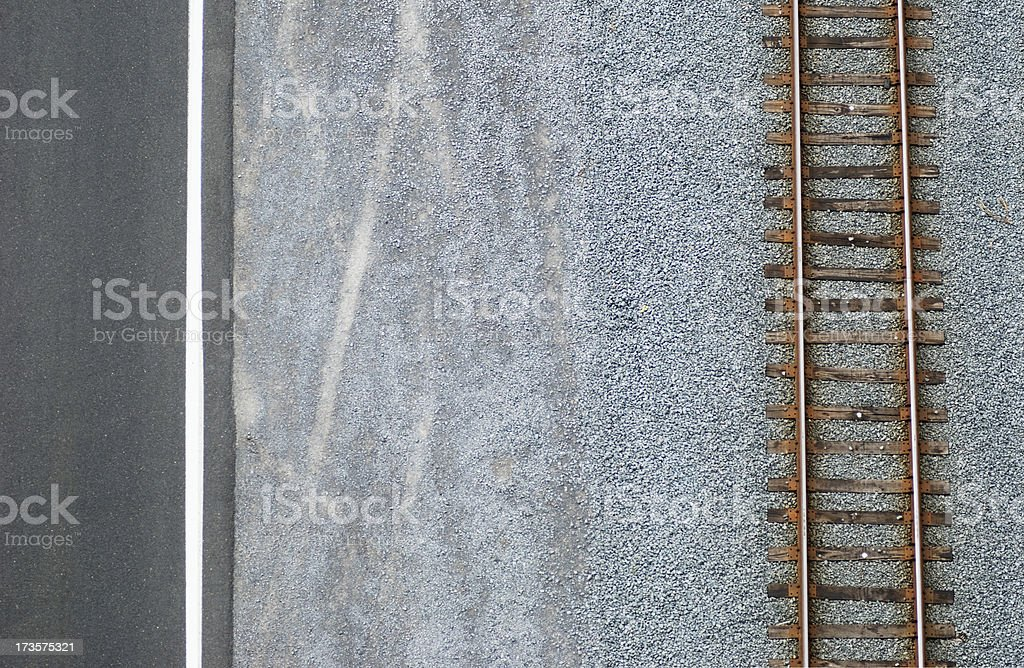Road and track royalty-free stock photo