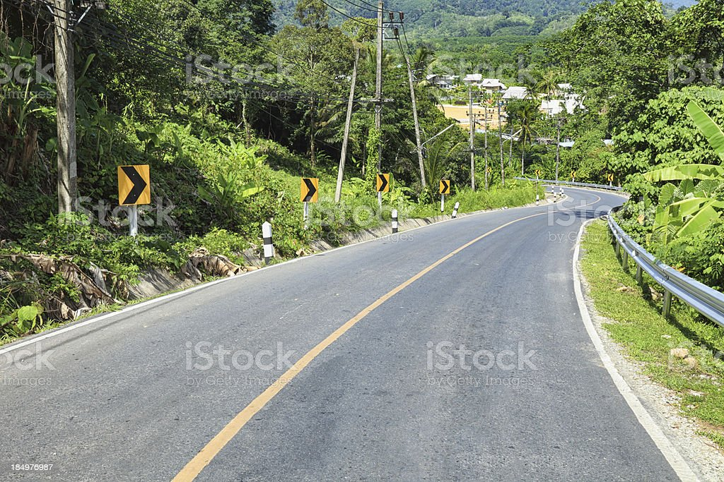 Road around the island of Phuket royalty-free stock photo