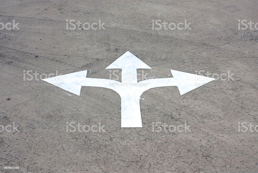 road arrow direction stock photo