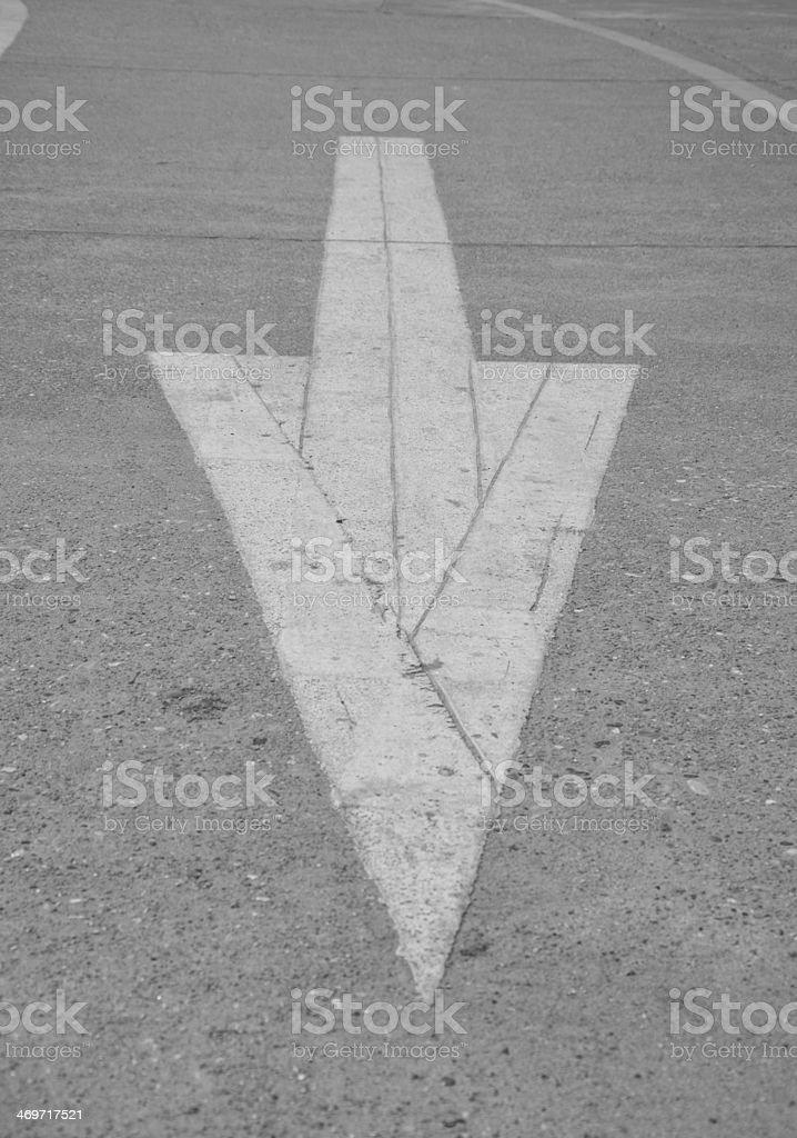 road arrow royalty-free stock photo