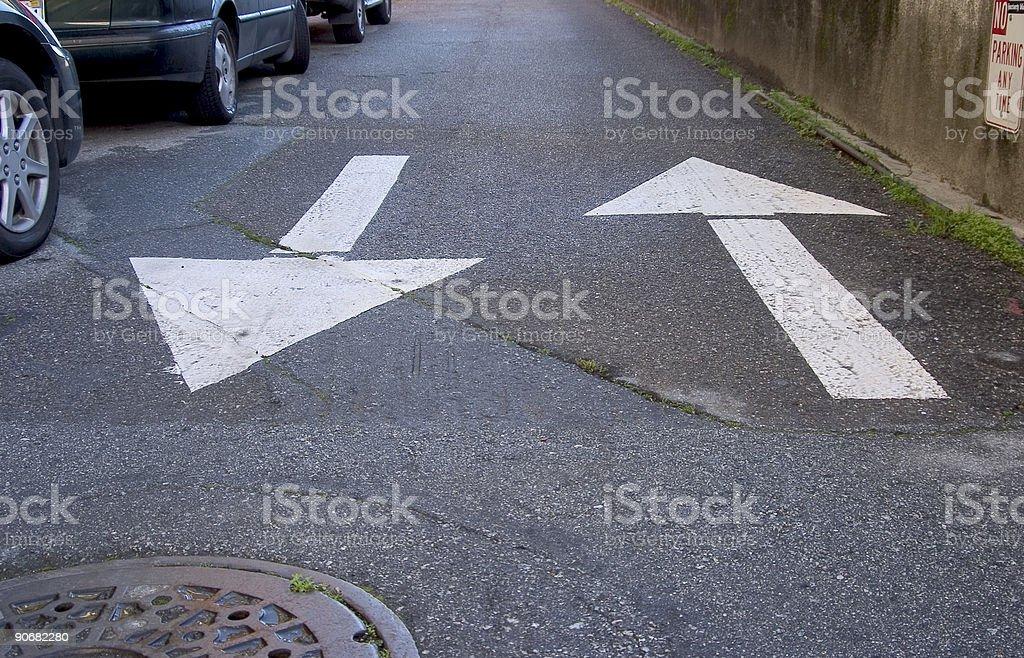 Road Arrows 1 royalty-free stock photo