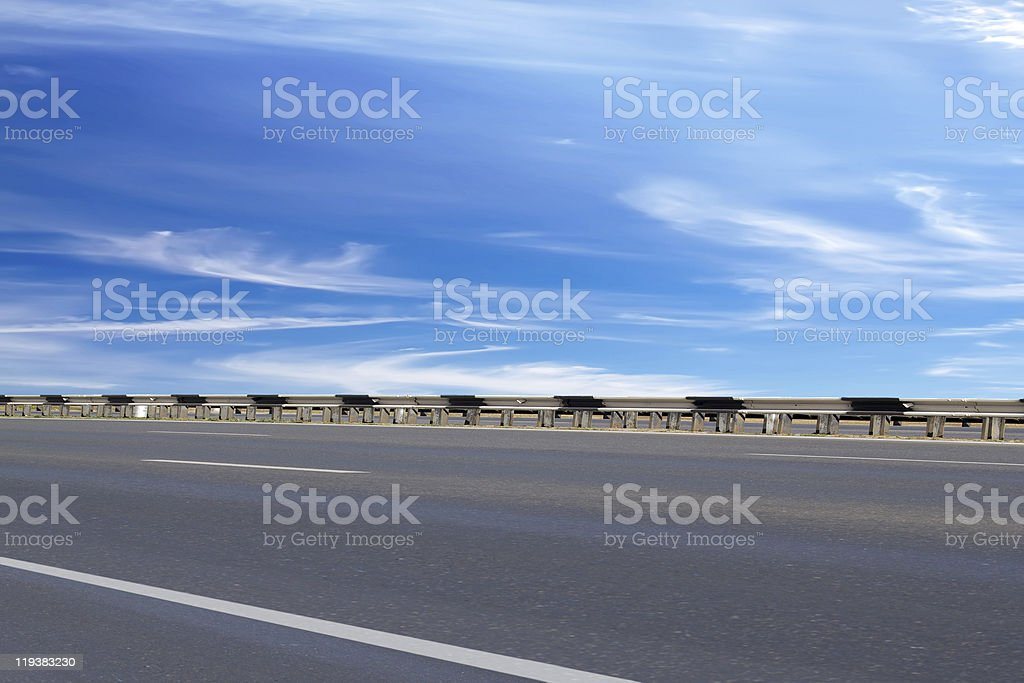 Road  asphalted   protection stock photo