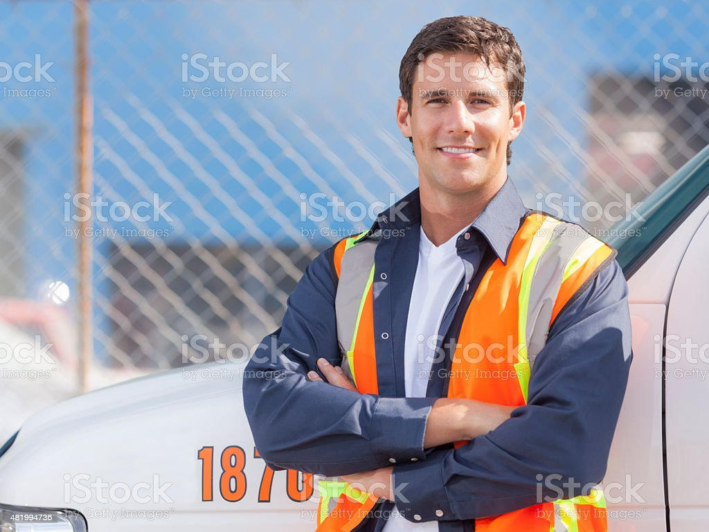 Road Assistance Worker stock photo