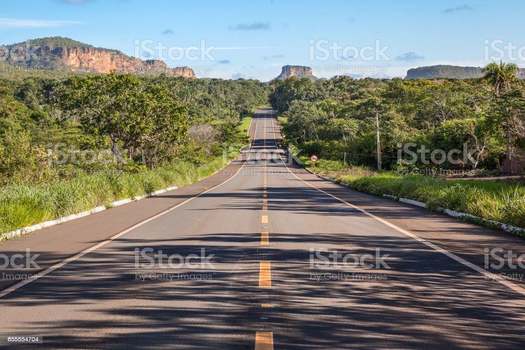 Road at Chapada das Mesas National Park - Carolina, Maranhao, Brazil stock photo