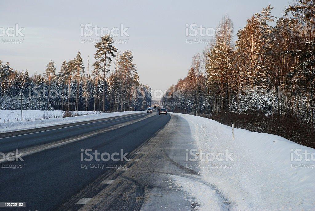 Road at Sunset royalty-free stock photo