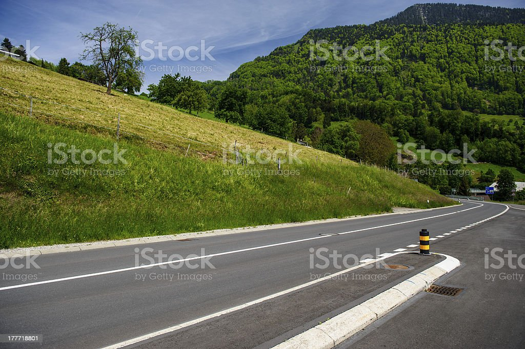 road at the lake Lucerne royalty-free stock photo