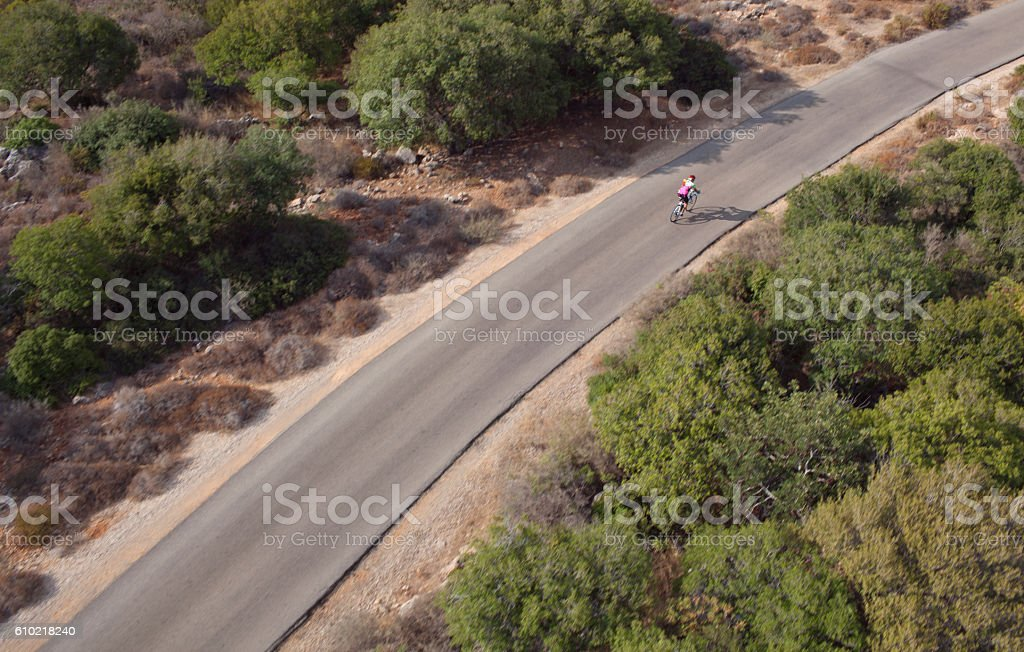 Road bicycle ride. stock photo