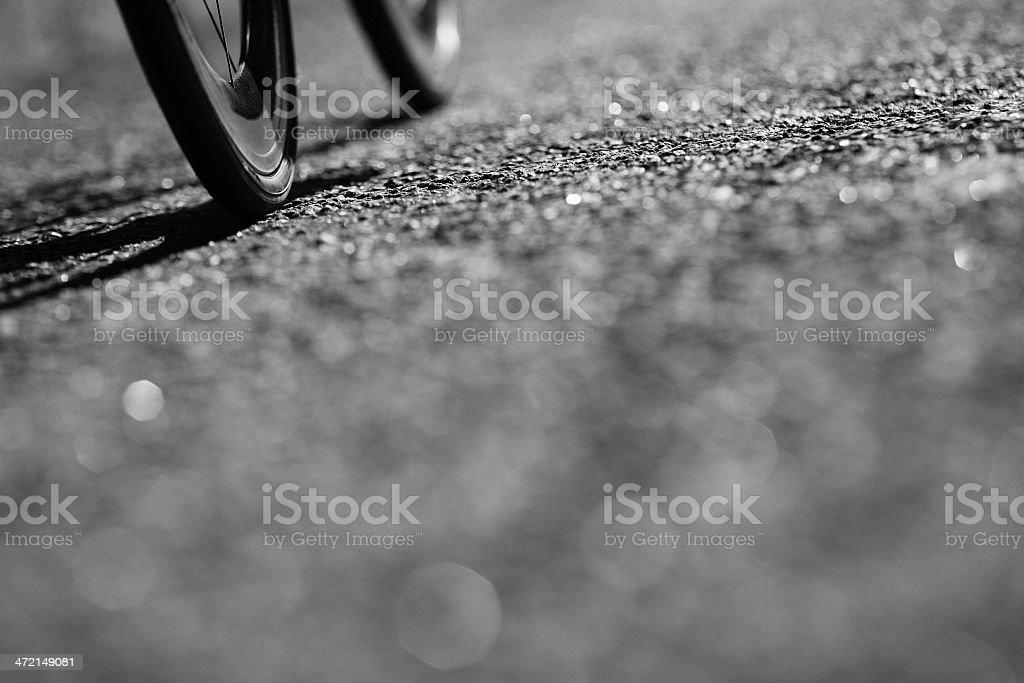 Road Bicycle Wheels stock photo