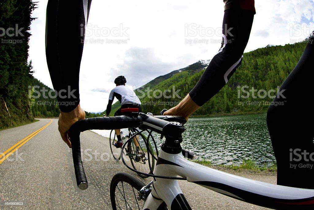 Road Bicycling Men stock photo