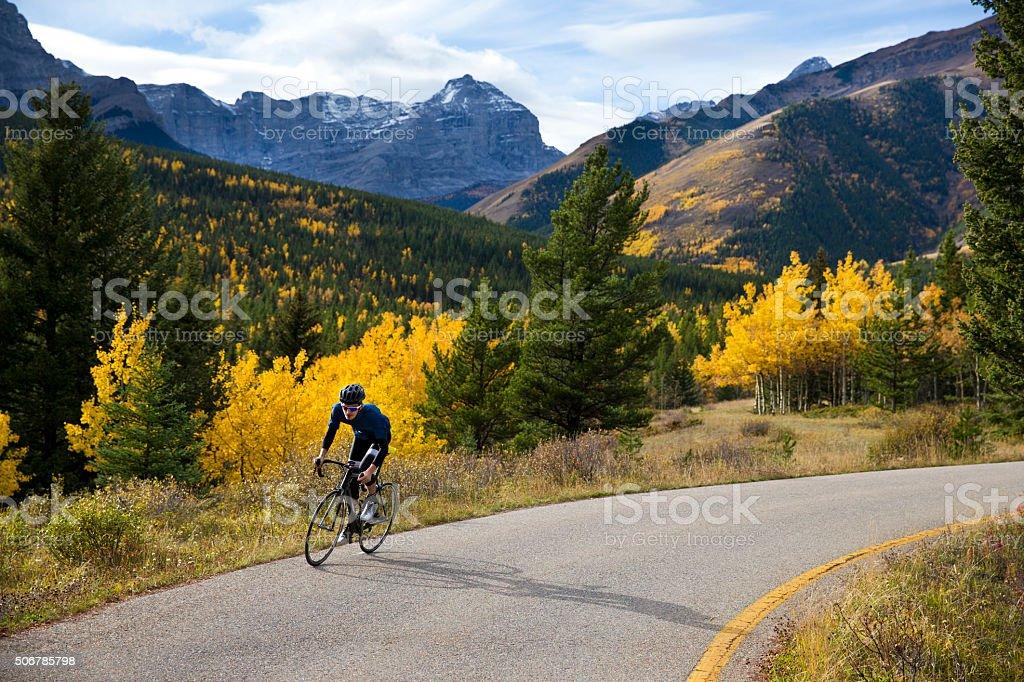 Road Bicyclist Man stock photo