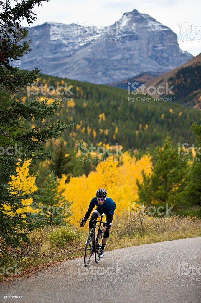 Road Bicyclist stock photo