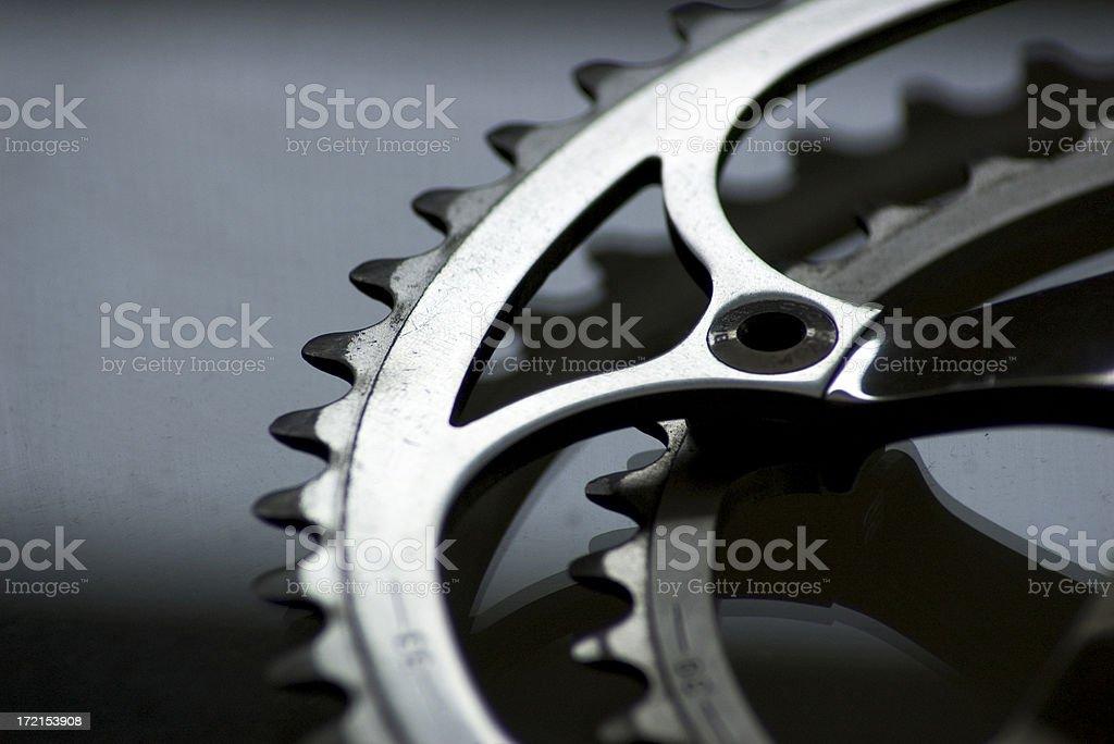 Road Bike Crankset stock photo