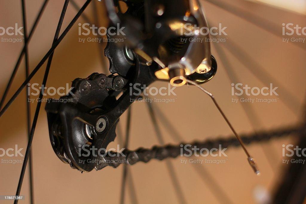 Road bike derailleur Lizenzfreies stock-foto