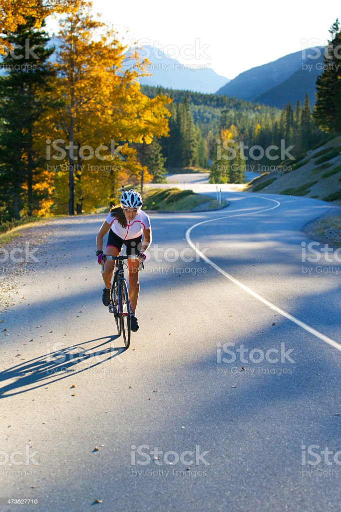 Road Bike Girl stock photo