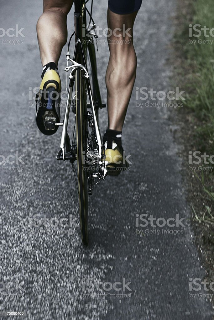 Road Bike Rider stock photo