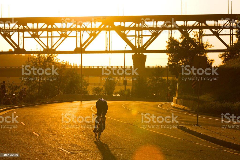 Road Bike Time Trial stock photo